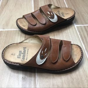 Finn comfort sandals leather 3 strap comfort